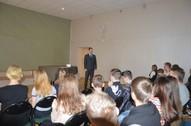 Tikšanās ar skolas absolventu J.Sergejevu