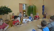 3.a kl. skolēni ar keramiķi Ingrīdu Žagatu